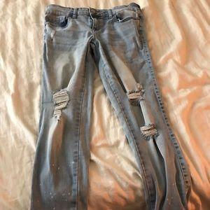 Cute distressed boy friend jeans